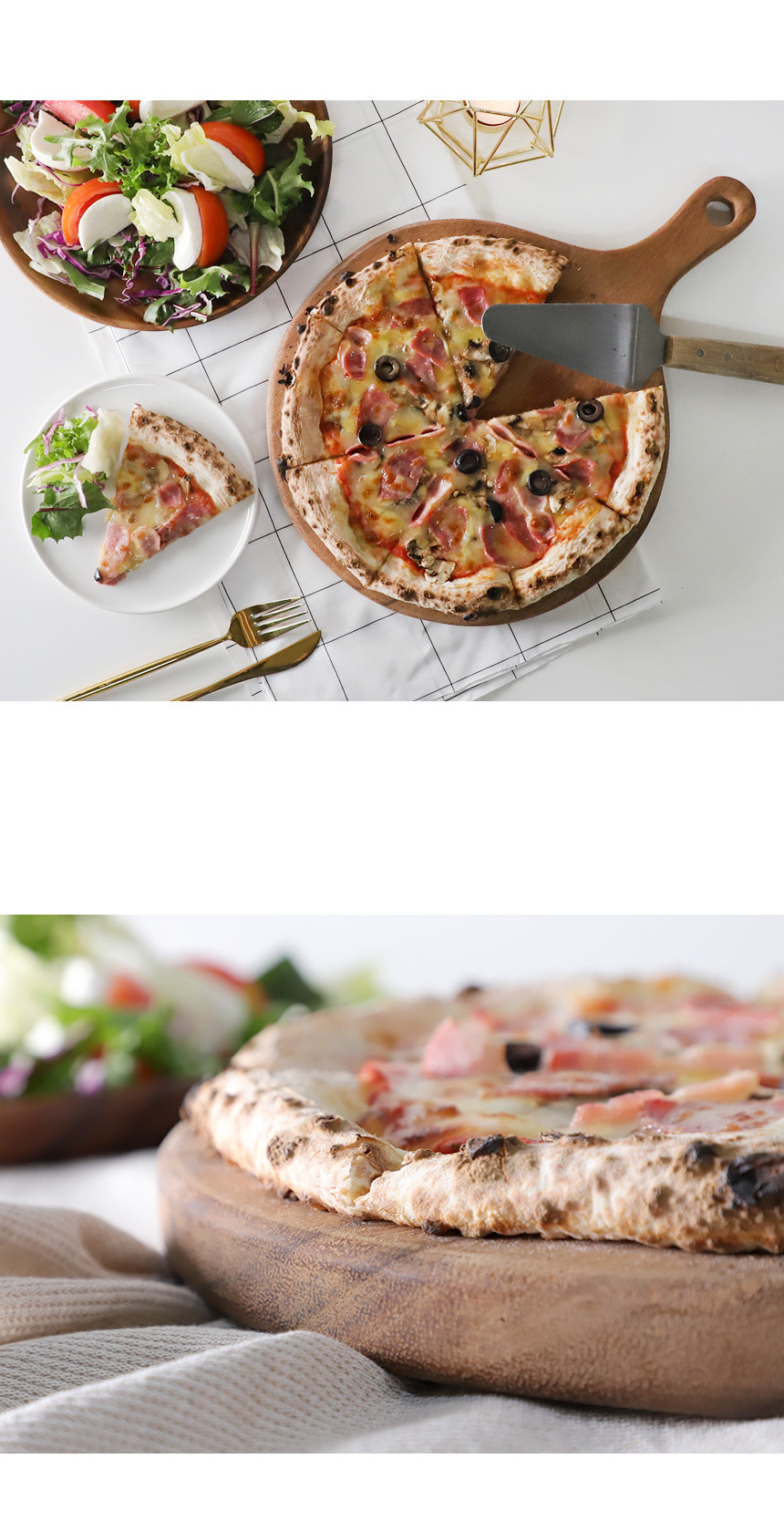 통원목 피자 트레이 2size 선택 - 키친몰링, 26,900원, 접시/찬기, 접시